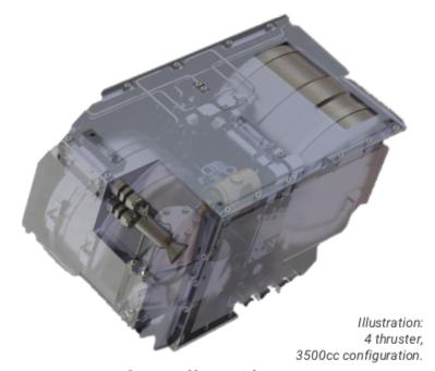 PEREGRINE SmallSat Bipropellant Thruster on satsearch